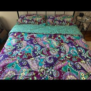 Vera Bradley Heather Print Queen Comforter + Shams